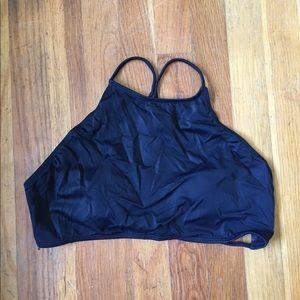 PacSun Black Bathing Suit Top Size L